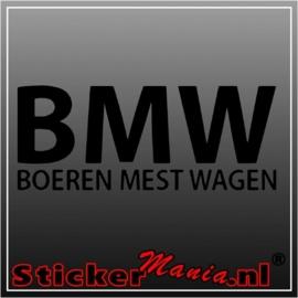 BMW boeren mest wagen sticker
