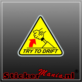 Try To Drift Full Colour sticker