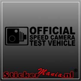 Official speed camera test vehicle sticker