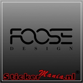 Foose design sticker