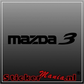 Mazda 3 sticker