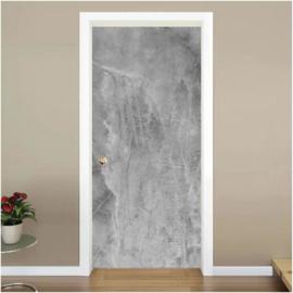 Lichtgrijze beton look deur sticker