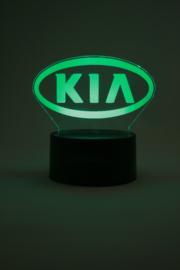 Kia logo led lamp