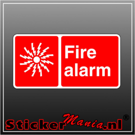 Fire alarm full colour sticker