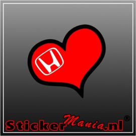 Love Honda Full Colour sticker