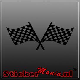Dubbele vlag 7 sticker