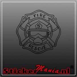 Fire rescue sticker