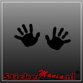 Baby hands sticker
