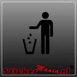Afvalbak sticker