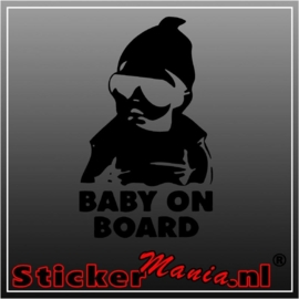 Baby on board 5 sticker