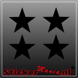 Set van 4 sterren krijtbord sticker