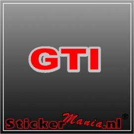 Volkswagen GTI chroom/rood sticker