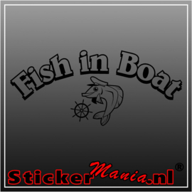 Fish in boat sticker
