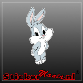 Baby Bugs Bunny Full Colour sticker