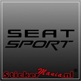 Seat sport sticker