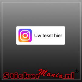Instagram logo met eigen tekst