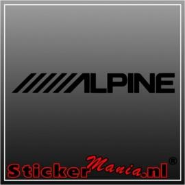 Alpine raamstreamer sticker