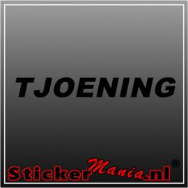 Tjoening sticker