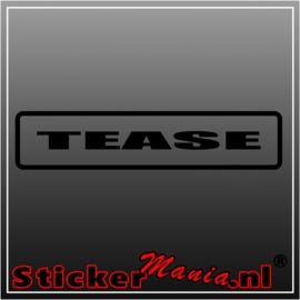 Tease sticker