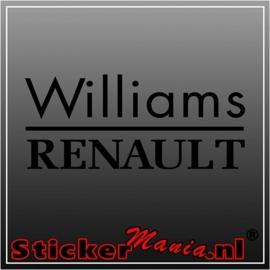 Renault williams sticker