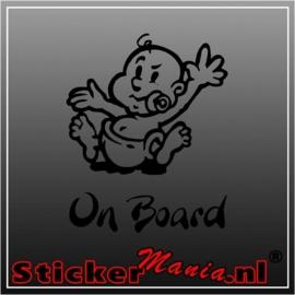 Baby on board 3 sticker