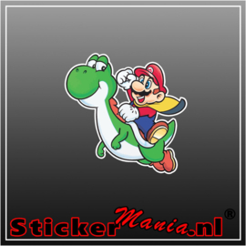 Mario & Yoshi Full Colour sticker