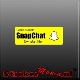 Volg ons op Snapchat met eigen tekst