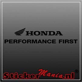 Honda performance first sticker