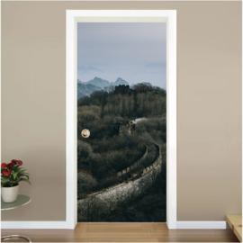 Chinese muur deur sticker