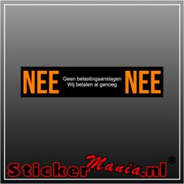 Nee | Nee belasting sticker zwart