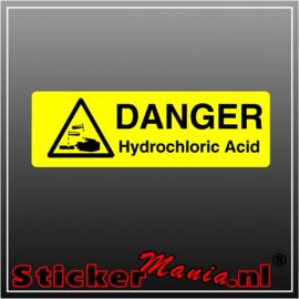 Danger hydrochloric acid full colour sticker