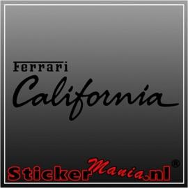 Ferrari california sticker