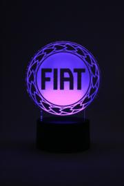 Fiat logo led lamp