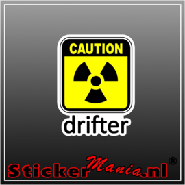 Caution Drifter Full Colour sticker