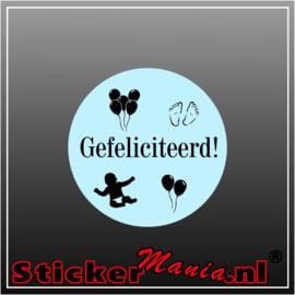 Felicitatie Stickers