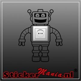 Robot stopcontact sticker