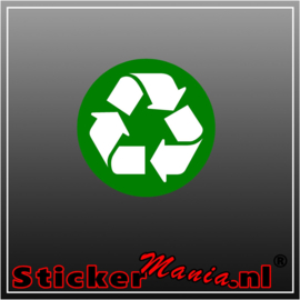 Recycle logo full colour sticker