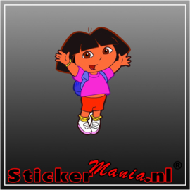 Dora full colour sticker