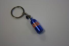 Nos fles sleutelhanger blauw