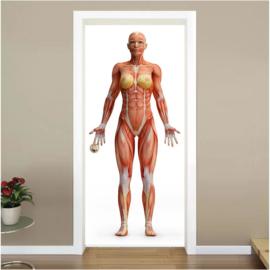 Vrouw deur sticker
