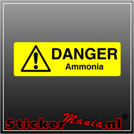 Danger ammonia full colour sticker