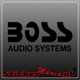 Boss audio sticker