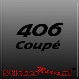Peugeot 406 coupe sticker