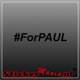 #For Paul sticker