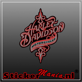 Harley davidson 6 full colour sticker