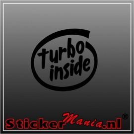 Turbo inside sticker