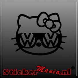 Hello kitty volkswagen sticker