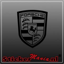 Porsche logo sticker