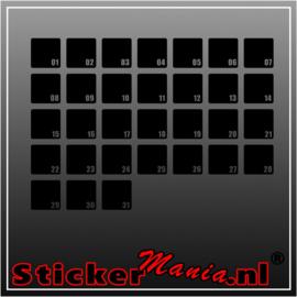 Maandplanner krijtbord sticker