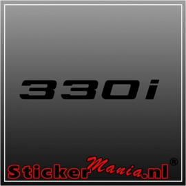 BMW 330i sticker
